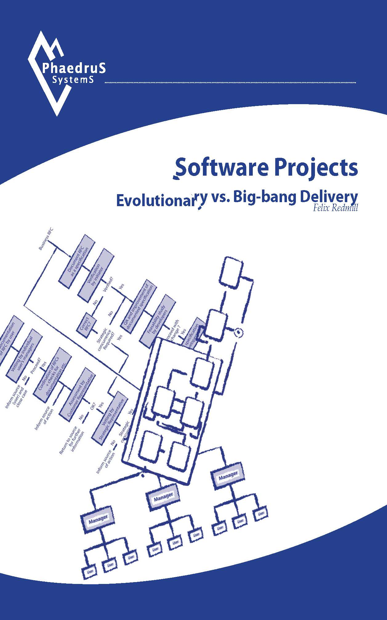 "Cover ""Software Projects - Evolutionary vs. Big-bang Delivery"", by Felix Redmill"
